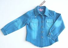 BNWT ROBERTO CAVELLI Angel Wings Cotton Denim Style Blue Jacket Top Shirt Age 4