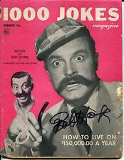 BOB HOPE - 1000 JOKES Magazine (1948) - SIGNED