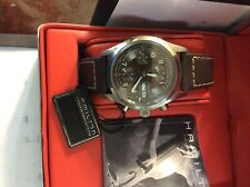 Mint Hamilton Khaki Automatic Watch Chronograph Chocolate Brown Dial ,