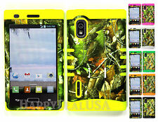 Hybrid Silicone Cover Case for LG Optimus Extreme L40g / L5 - Camo Mossy 10