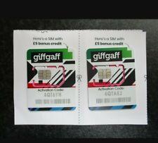 2 giffgaff SIM Cards (O2 Network) £5 Free Credit Brand New joblot wholesale !