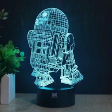 3D Lamp R2-D2 Table Night Light Force Awaken Model 7 Color Change LED