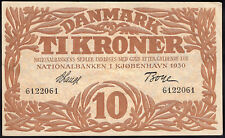 More details for denmark: national bank. 10 kroner. 1930. (pick 26a). gvf+.