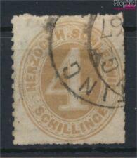 Schleswig-holstein 17 exemplaire normal oblitéré 1865 Dessin numéros (9108884