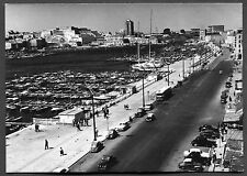 C1950's View of Cars, People, Boats, Harbour, Marsielles, France