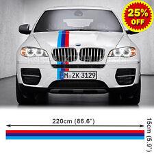 M Performance 3 Colors Hood Stripe Decal Sticker for BMW X5 X6 E70 E71 E72 E53