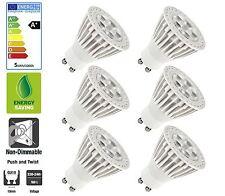 6 Pack: Allcam 5W GU10 LED Bulbs Energy Saving 50mm Height, Warm White