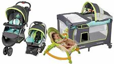 Baby Stroller Car Seat Travel System Set Infant Playard Newborn Portable Rocker