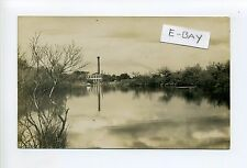Middleboro MA Mass RPPC real photo power plant pond description of scene on back