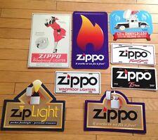 ZIPPO 8 VINTAGE METAL SIGN  (NEW)