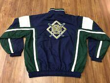 MENS XL - Vtg 90s MLB Milwaukee Brewers Starter Lined Zip Up Windbreaker Jacket