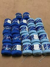 Lot of 22 rolls of Crochet Thread Baby Blue and Blue (BRAND NEW) Size 3