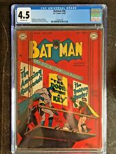 BATMAN #54 CGC VG+ 4.5; OW; scarce!