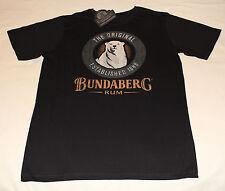 Bundaberg Rum Bear Logo Mens Black Printed Short Sleeve T Shirt Size S New