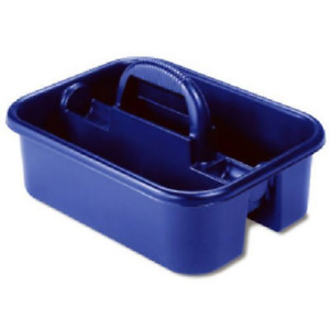 Akro-Mils 09185 Plastic Tote Tool & Supply Cleaning Caddy with Handle, x x Blue