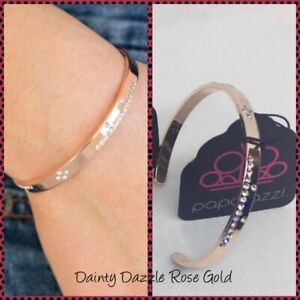 Paparazzi ~ Dainty Dazzle Rose Gold Cuff Bracelet ~ *NEW RELEASE* ~ *WOW*