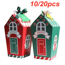 20pcs Christmas Gingerhouse Party Paper Favour Candy Sweets Bag Xmas Gift Boxes