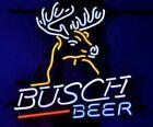 """New Busch Beer Deer 19""""x15"""" Neon Sign Light Bar Lamp Light Real Glass Display"""
