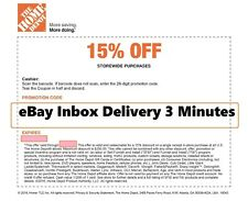 One 1x Home Depot 15 Off Coupon Save Up To 200 Instore Only Fast Sent Ebay