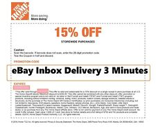 ONE~1X-Home Depot 15% OFF Coupon Save up to $200-Instore ONLY-FAST-SENT_______
