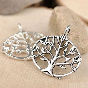10x Charms Tree Of Life Pendant Beads DIY Jewellery Making Tibetan Silver 682AF