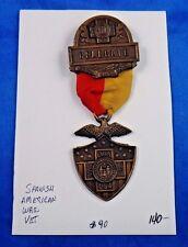 1931 Spanish American War Veteran Delegate Utica Medal Pin Ribbon Badge