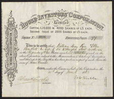 House Investors Corporation Ltd., £5 share, second issue, 1882