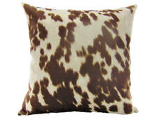 """Dark Brown Rodeo Cowhide Velvet Suede 18""""x 18"""" Pillow Cover - Home Decor"""