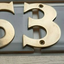 SOLID POLISHED BRASS NUMBER 3 House Front Door