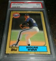 1987 Topps Tiffany Glossy #757 Nolan Ryan HOUSTON ASTROS (HOF) PSA 9 MINT
