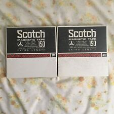 "2 NOS Sealed Scotch 150 7 inch Reel to reel Tapes 1/4"" X 1800'"