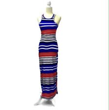 DEREK HEART Women's Stretch Maxi Dress Size S Striped Multicolor Sleeveless