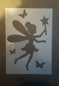 Fairy Butterflies Stencils A5 Arts Craft Fantasy Cake Stencils Wall Decorating