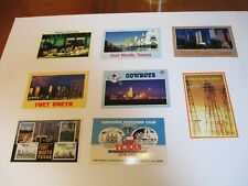 Eight Texas Postcards - Fort Worth, Dallas Cowboys, Black Gold  - All unmailed