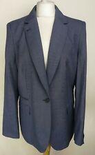 Next Tailoring Womens Blazer, Size 18, Blue Mix, Wool Blend, RRP £65, NWT A912