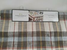 "THRESHOLD EXTENDED LENGTH & WIDTH TABLE RUNNER 20"" X 90"" EARTH TONES PLAID"