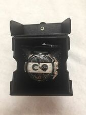 NWT DIESEL DZ4361 Chronograph Black Dial Leather Men's Watch List $260