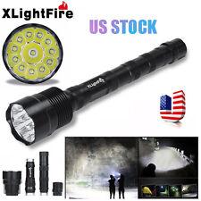 12x CREE XML T6 XLightFire 30000 Lumens 5 Mode 18650 Super Bright LED Flashlight