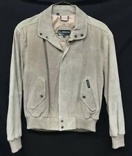 Mens Vtg Members Only By Europe Craft Tan Suede Leather Bomber Coat Size 44