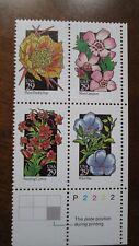 SCOTT # 2647-2648 2657-2658 Wildflowers U.S. Stamps MNH - Plate Block of 4