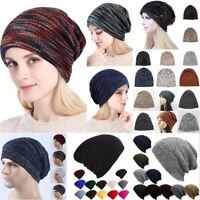 Unisex Men Women Hip-Hop Warm Winter Wool Knitted Ski Beanie Cuff Skull Cap Hat
