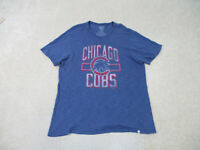 Chicago Cubs Shirt Adult Large Blue Red MLB Baseball Retro Cotton Mens B30 *