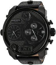 Diesel Time Zone Black Out Mr Daddy Black Chrono Analog Quartz Watch DZ7193 51mm
