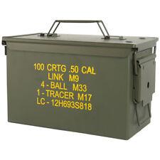 Mil-tec M2A1 Cal.50 US Army Munición caja de acero airsoft almacenamiento Herram