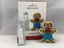 Hallmark Keepsake TIS THE SEASON Gingerbread Man Milk Jug Ornaments Collectibles