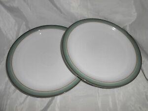 "2 Denby Regency Green 10.25"" 25.5cm Stoneware Dinner Plates_a"