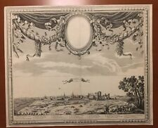 Lens En Artois Rare 17th Century Military View Engraving Nicolas Perelle 22X18