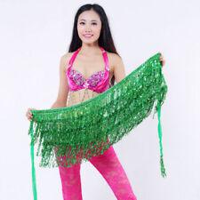 Festival Wrap Skirt Belly Dance Costume Top Sequins Tassel Fringe Hip Scarf Belt