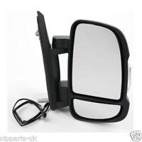 Peugeot Boxer Full Door Wing Mirror MANUAL Black Short Arm Right O/S 2006 2018