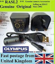Genuine Olympus F-2AC AC ADAPTER charger FE-4050 FE-5035 FE-5040 FE-5050 T-100